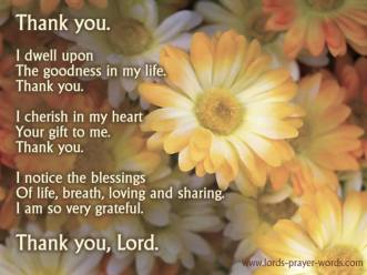 Thankfulness to God