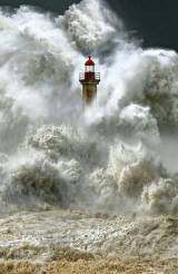 Lighthouse Under Tidal Wave Siege 1