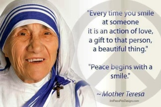 Mother Teresa - Peace Begins With Smile